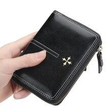 цены European and American new women wallet short leather Doka organ female storage wallet vertical zipper coin purse