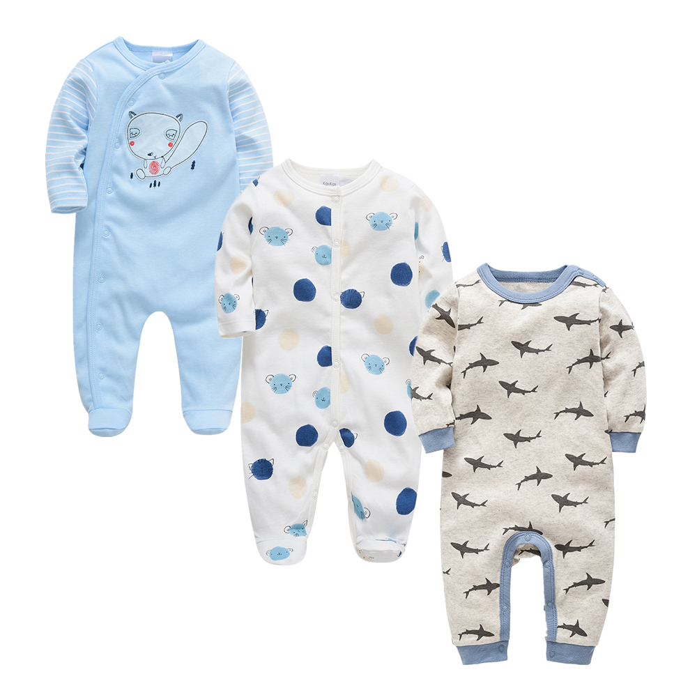 Image 5 - 2019 Autumn Winter 3pcs Baby Boy roupa de bebes Newborn Jumpsuit Long Sleeve Cotton Pajamas 3 6 9 12 Months Rompers Baby Clothes-in Rompers from Mother & Kids