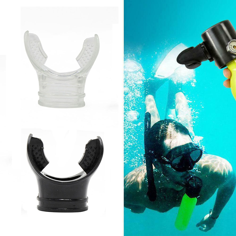Diving Mouthpiece Soft Silicone Diving Underwater Diving Snorkel Breathing Tube Mouthpiece Regulator Swimming Accessories