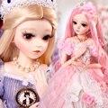 UCanaan/1/3 BJD кукла 60 см мяч шарнирные SD куклы с Полный комплект одежды Туфли под платье парик Макияж коллекционные игрушки для девочек подарок н...