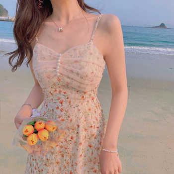 Dress for women Summer Round Neck Women Blouse Puff Sleeve Tops Short Sleeve Shirt Suspender Floral Dress Women Floral suspender 1