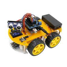Car-Kits Robot Arduino Ultrasonic-Module LAFVIN for UNO R3 Multi-Function MEGA328P 4WD