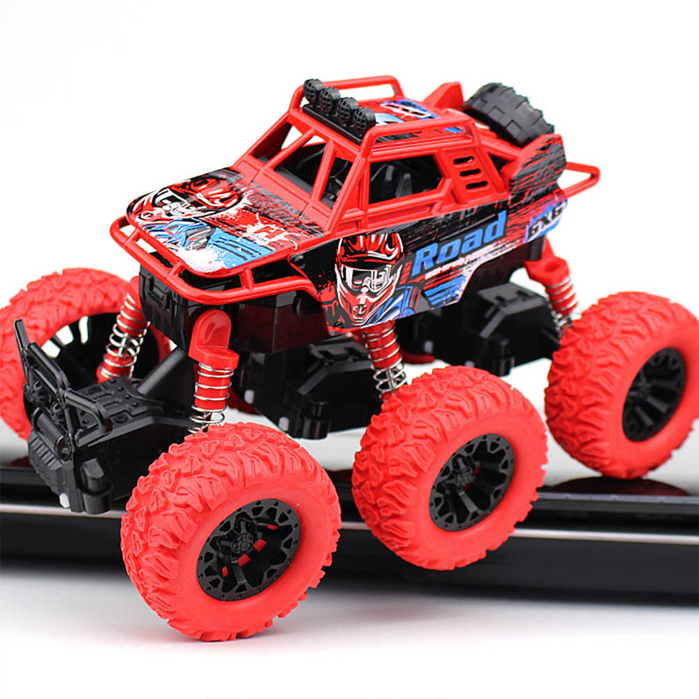 6 גלגל כונן אנטי הלם מפלצת משאית חיצוני אינרציה מתנת דגם סגסוגת חיכוך סורק מופעל 360 תואר מרפרף צעצועים