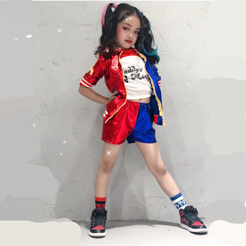 24hours Ship Harley Quinn Costume Cosplay Kids Girls Women Adult JOKER Suicide Squad Jacket New Year Purim Carnival Costume 1