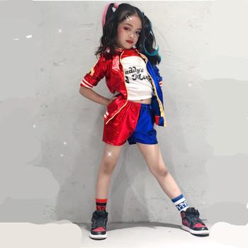 24 godziny statek Harley Quinn kostium Cosplay dzieci dziewczyny kobiety dorosły JOKER samobójstwo Squad kurtka nowy rok Purim karnawałowy kostium tanie i dobre opinie B I Fineny Kurtki Szorty Film i TELEWIZJA Zestawy Harley Quinn kids Poliester Kostiumy