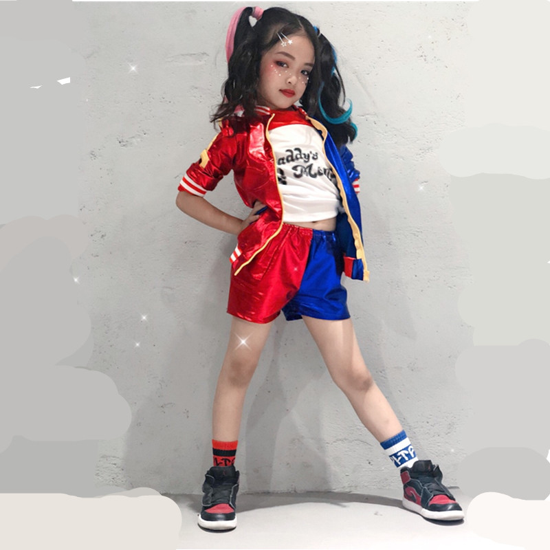 24hours Ship Harley Quinn Costume Cosplay Kids Girls Women Adult JOKER Suicide Squad Jacket New Year Purim Carnival Costume(China)
