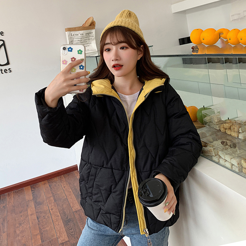 2019 Winter New Short Jacket Women Standing Collar Female Hooded Coat Thick Casual Warm Parka Autumn Outwear