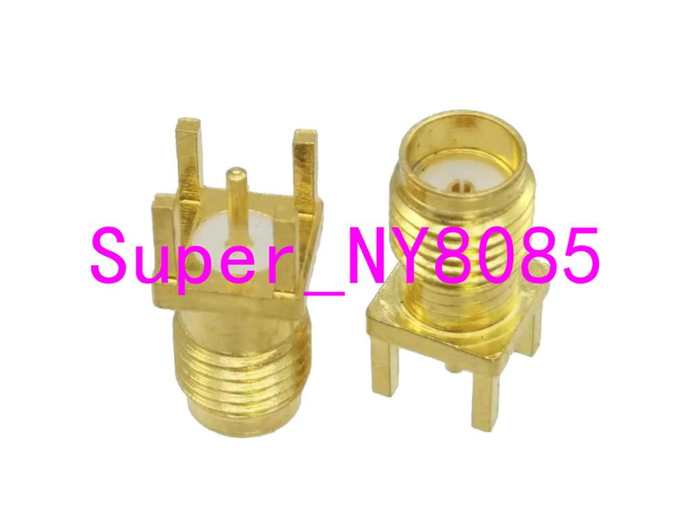 Connector SMA Female Jack Solder PCB Mount Straight RF Coaxial