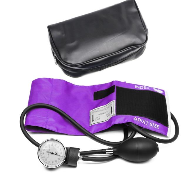 Professional Adult Manual Blood Pressure Monitor BP Cuff Upper Arm Aneroid Sphygmomanometer Tonometer with Pressure Gauge