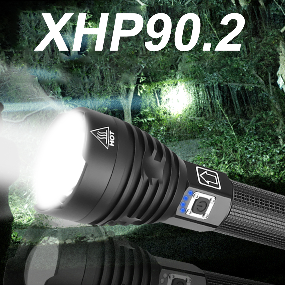 Led Xhp90.2 Most Powerful Led <font><b>Flashlight</b></font> 300000 Lm Xhp90 Torch Usb Xhp50 Rechargeable Xhp70 Tactical <font><b>Flashlights</b></font> <font><b>18650</b></font> Hand Lamp image