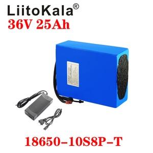 Image 2 - LiitoKala 36V 25ah 18650 10S8P אופניים חשמליים סוללה 36V 25AH 1000W ליתיום סוללה מובנה 20A BMS חשמלי אופני מנוע