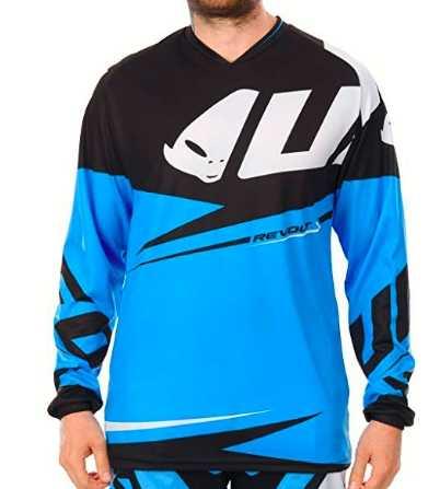 UFO JERSEY mx23 Blu Motocross MX MOTO CROSS ENDURO MAGLIA OFFROAD BIKE