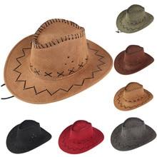 Western Cowboy Hat Fashion  Cheap Price Cowboy Hat For Gentleman Cowgirl Jazz Cap With Gentleman Suede Sombrero Cap 2021 #2