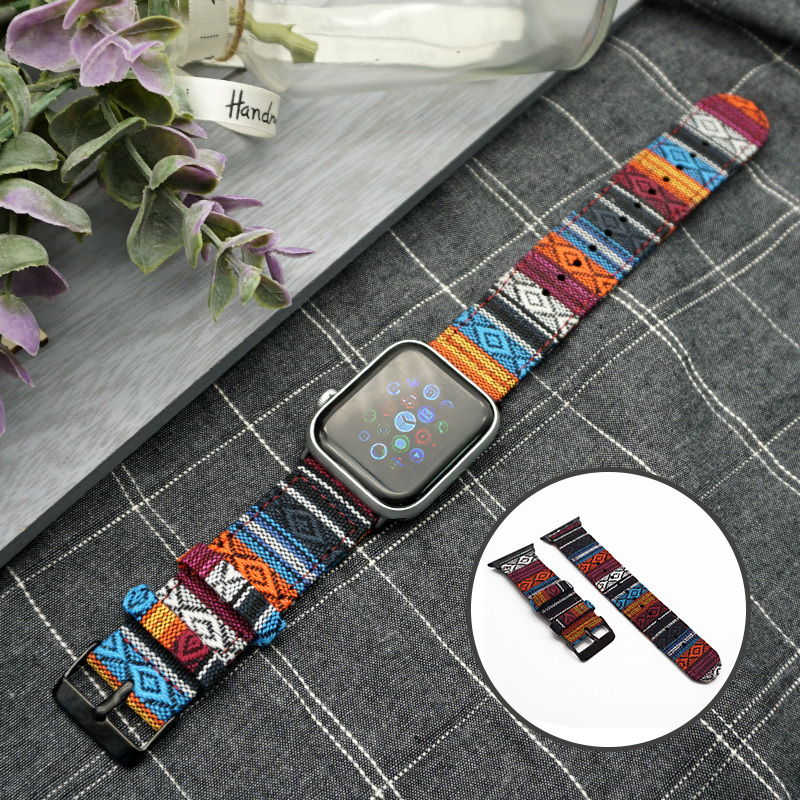 5Colors National Custom Style Nylon Smart Watch For Apple Watch Band 38mm 42mm Sport Band Apple Watch 5 4 3 2 Accessories