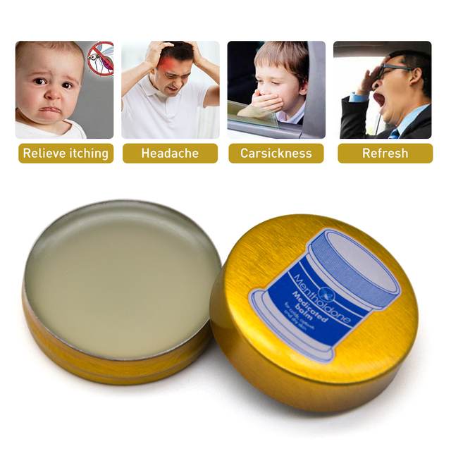 1/3/5pcs Gold Balm Ointment Cooling Oil Refresh Cream Anti-motion Cold Headache Muscle Rub Aches Pain Relieving P0037 2