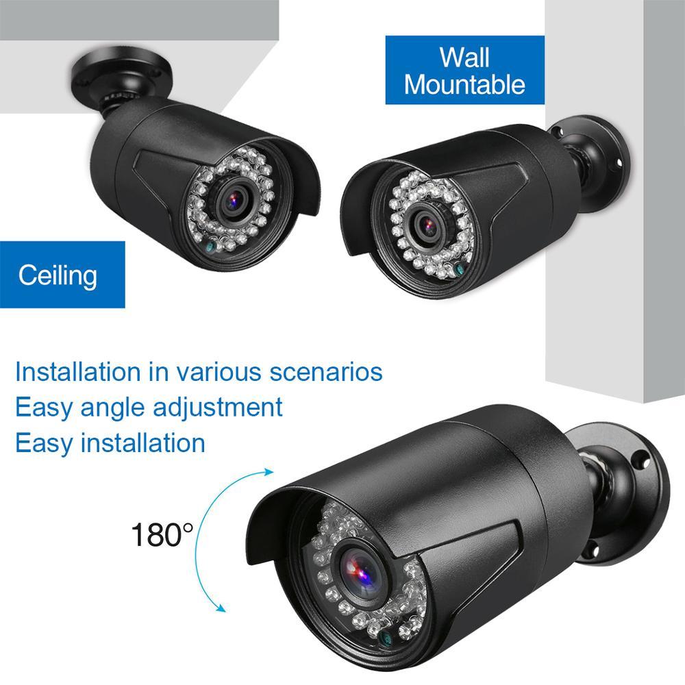 DVR комплект видеонаблюдения 2 камеры системы домашнего видеонаблюдения видео рекордер hd ночной день 2ch монитор обнаружения датчик движения ... - 3