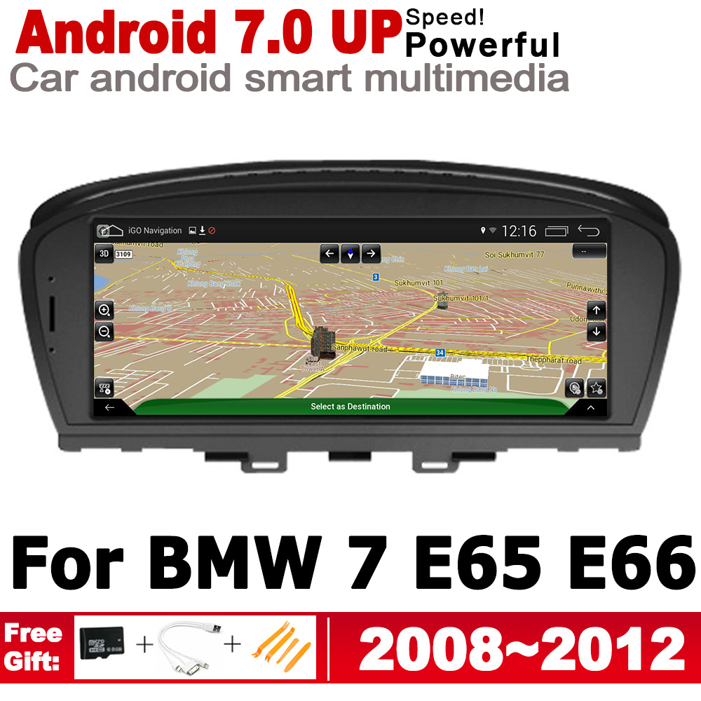 Android 7.0 up IPS car player for BMW 7 E65 E66 2008~2012 CIC original Style <font><b>Autoradio</b></font> <font><b>gps</b></font> navigation HD Screen Stereo Bluetooth image
