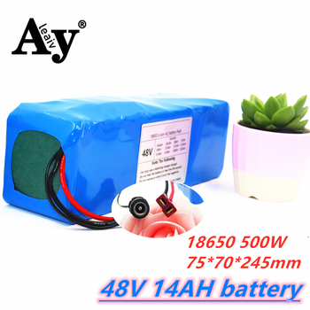 Electric bicycle battery 18650 battery pack 13S4P 48V 14Ah 48V 14000mAh 500W powerful bicycle lithium battery with BMS