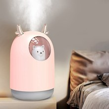 300ml Silent Ultrasonic Air Humidifier for Home Car USB Fogger with 7-color LED Night Lamp Aroma Essential Oil Diffuser(China)