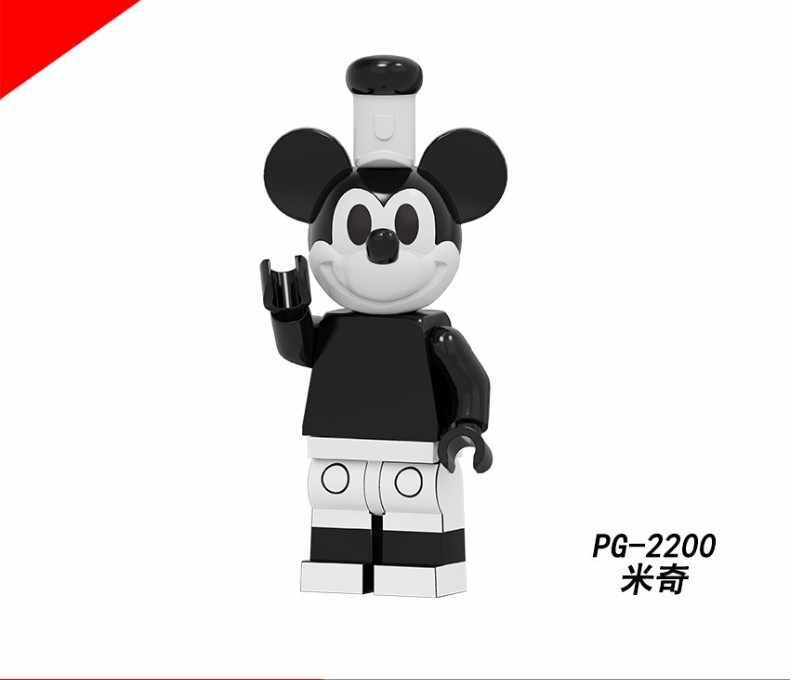 Legoed kreskówka myszka miki Minnie Chip Dale klocki figurki dzieci zabawki prezentowe
