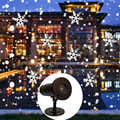 LED Stage Light Laser Projector Waterproof Snowflake Sky Stars Lamp Home Landscape Decor Christmas Gift for Party Garden