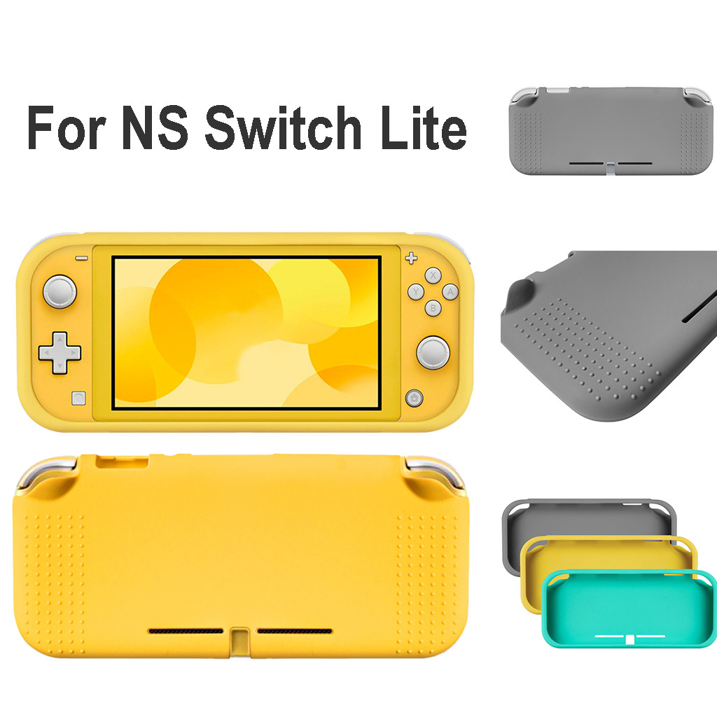 Game Accessories Games Tool  Silicone Protective Half pack Pure colour Case Cover For Switch Lite Console