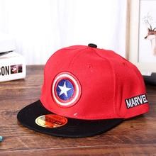 ALLKPOPER Summer Childrens Boys&Girls Cartoon Captain America Snapback Adjustable Kids Baseball Cap Hip Hop Hat Sun Mesh