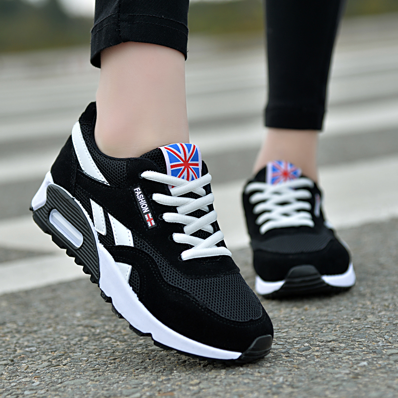 Wearable Breathable Black Ladies Sneakers Red Comfortable And Elastic Spring And Summer Fashion Running Shoes Ladies New 2020