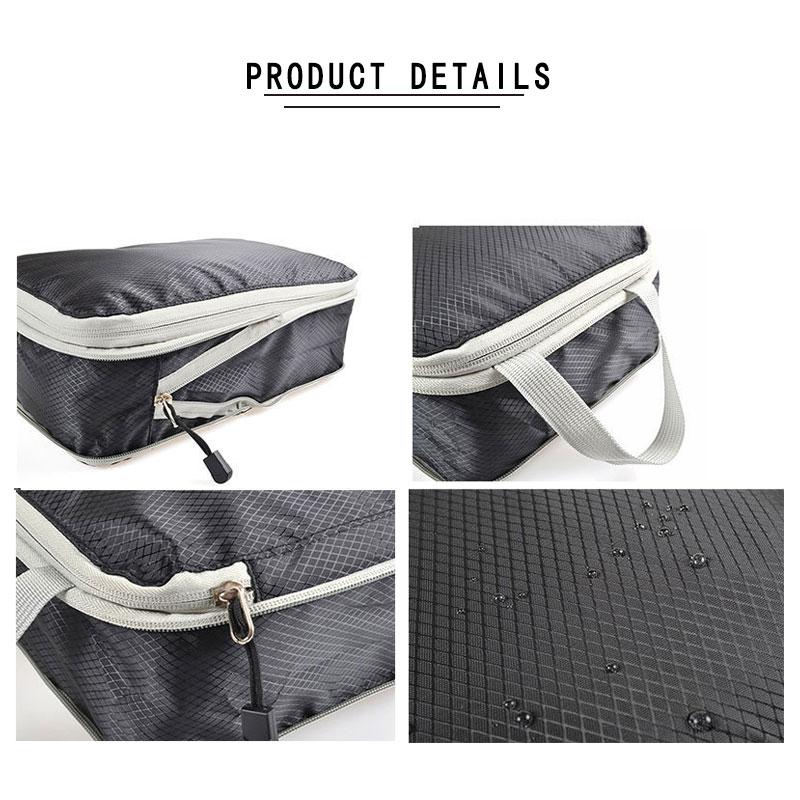 Men Women Nylon Foldable Travel Bag Organizer Hand Luggage Large Capacity Waterproof Travel Bag Compression Packing Cubes