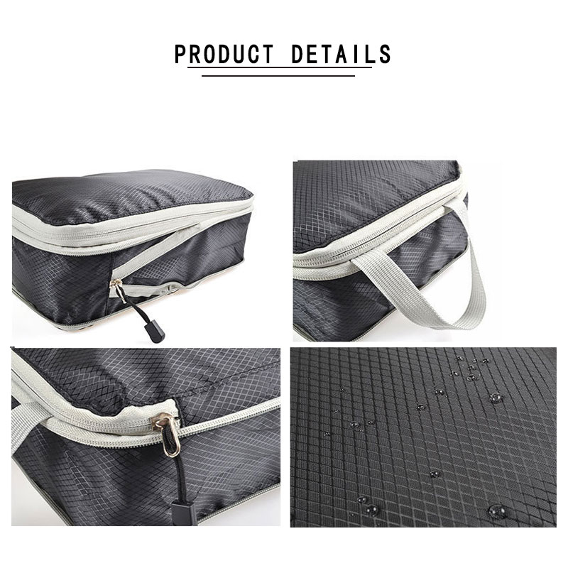 Women Men Nylon Travel Bag Organizer Hand Luggage Large Capacity Waterproof Foldable Travel Bag Compression Packing Cubes