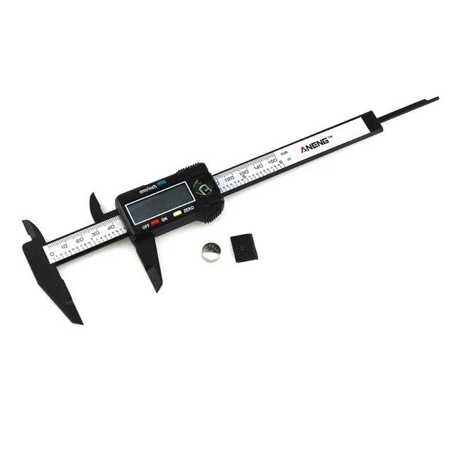 חם הדיגיטלי LCD מיקרומטר Vernier Caliper 150mm/6 אינץ אלקטרוני Vernier מחוגה רכב תיקון כלי caliper YHQ