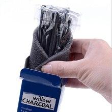 Упаковка из 12 штук палочки для древесного угля хлопок ива эскиз древесный уголь карандаши для рисования живопись(малый/средний/большой