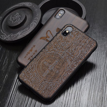Caso di Legno di lusso Per il iPhone 11 Pro Max Casi Antiurto Armatura Della Copertura di TPU di Legno Funda Per il iPhone XS Max 11 pro 7 8 Più di X Xr Coques