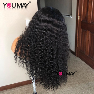 Image 3 - Full Lace Human Hair Wigs Fake Scalp Glueless Brazilian Deep Curly Transparent HD 30 Inch Full Lace Wig 250 Density Bob You May