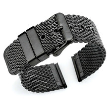 Milanese Loop Wrist Strap 18mm 20mm 22mm 24mm Universal Stainless Steel Watch Band Bracelet Belt samsung gear s3 frontier цена