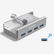 Orico Clip Design 4 Ports USB 3.0 HUB Aluminum Alloy Clip-type Portable Size Travel Charger Charging Hub Station for Laptop цена и фото