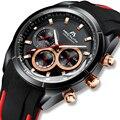MEGALITH, модные мужские часы, Топ бренд, роскошные спортивные водонепроницаемые часы, армейские военные часы, мужские кварцевые часы, relogio masculino