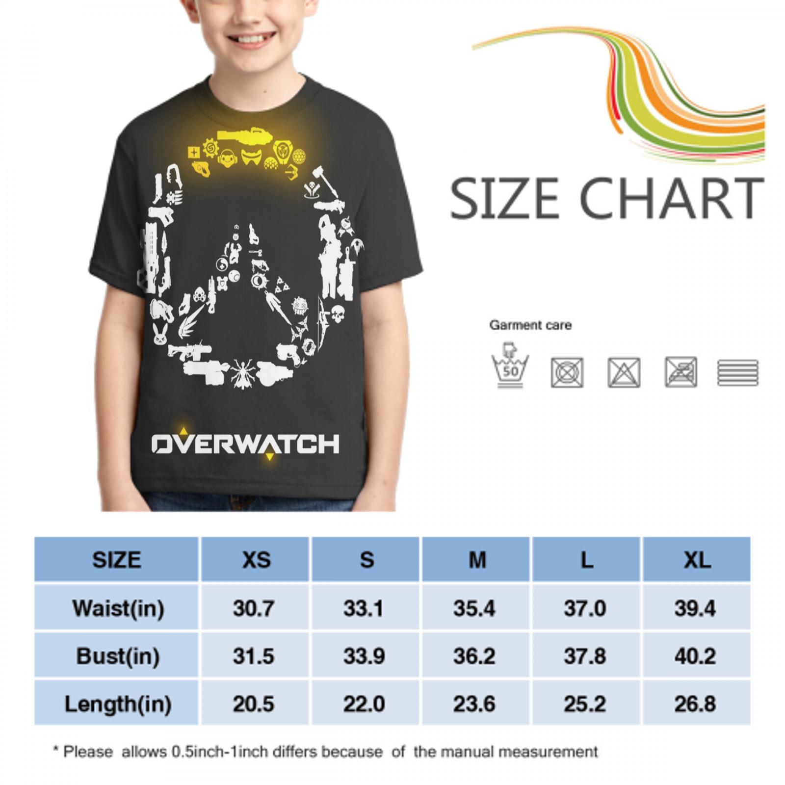 printer overwatch casual t shirt custom ladies/mens oversized t shirt overwatch poster boys/girls t shirt 4