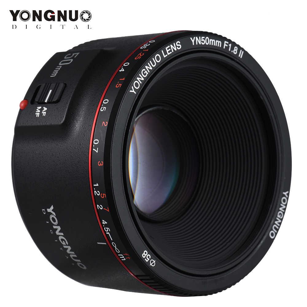 YONGNUO YN50mm obiektyw YN50mm F1.8 II obiektyw duża przysłona automatyczne ustawianie ostrości obiektyw do modeli canon EOS 70D 5D2 5D3 600D lustrzanka cyfrowa Len
