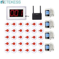 Enfermeira do hospital sistema de chamada pagers sem fio 1 receptor anfitrião + 4 relógio receptor + 1 repetidor sinal 30 botão chamada f3288b