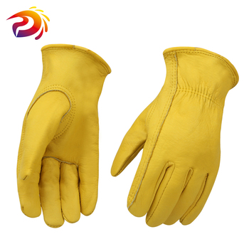 Cheap Work Gloves Leather Gardening Motorcycle Cowhide Grain Leather Safety Working Glove Men&Women leather work glove mig tig safety glove premium grain cow leather welding glove