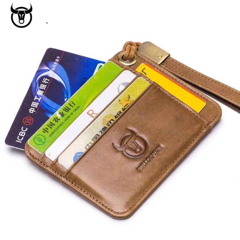 Yeni erkek çoklu kart pozisyonu inek derisi deri kart kılıfı iş kart tutucu kimlik banka kredi kartı kapağı