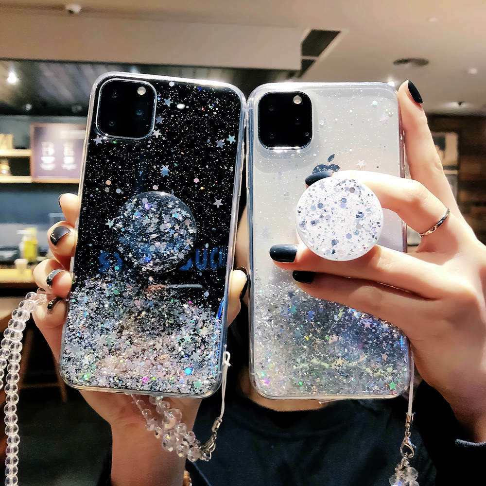 Bling Glitter Standing Case For iPhone Models Plus Slim Case With Stand Holder 8