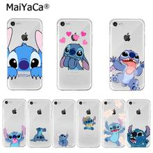 MaiYaCa nette cartoon Lilo Stich DIY Druck Zeichnung Telefon Fall für iPhone 11 Pro XS MAX XR 8 7 6 6S Plus X 5 5S SE 2020(China)