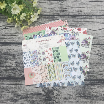 "12pc 6""X6""The Flamingo Flower Garden patterned paper Scrapbooking paper pack handmade craft paper craft Background pad 1"