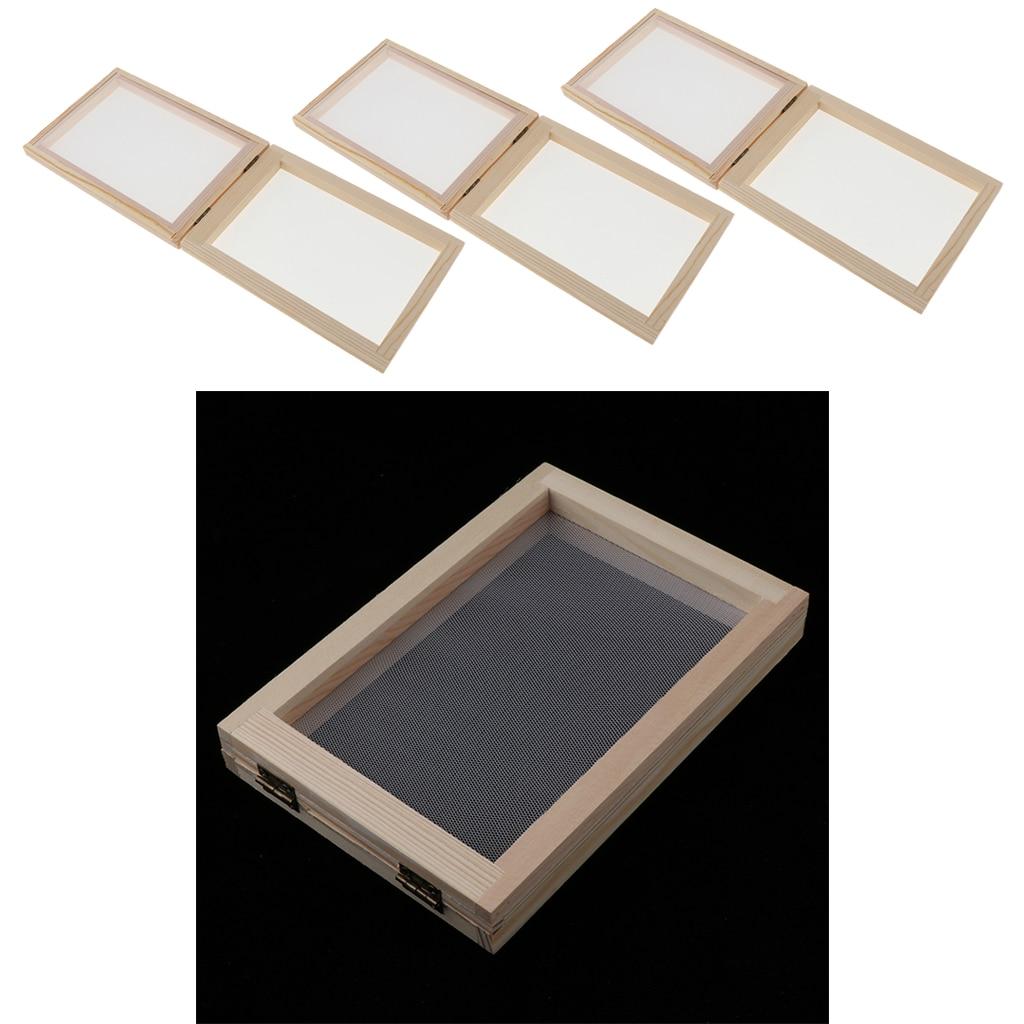 Набор для изготовления бумаги из 3 частей, рамка для экрана, подарок для рукоделия, ручная работа, переработка, бумажное искусство, для детей ...