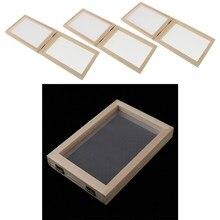 Kit de molde de papel de 3 peças moldura de tela, presente de artesanato diy, artesanato, reciclagem, arte de papel, para adultos crianças