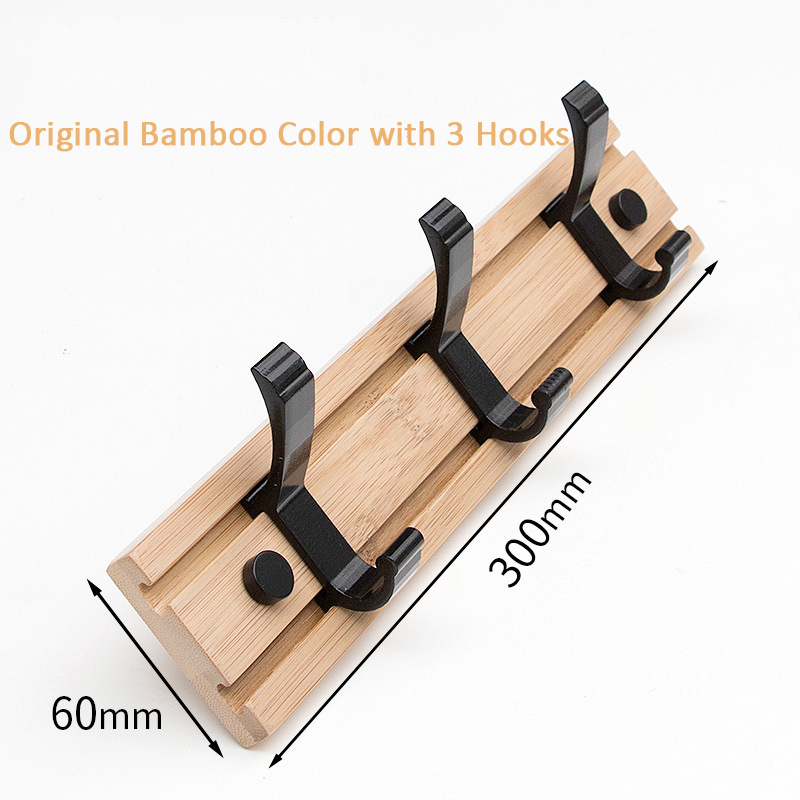 Hot Sale Nordic Wood Coat Rack Key Holder Clothes Hangers Simple Hook Wall Shelf Home Decorative Bedroom Furniture 6