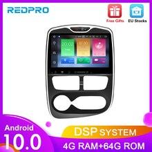 """Reproductor de DVD con GPS para coche Renault Clio reproductor Multimedia de 10,1 """", Octa Core, Android 10,0, navegación GPS, Radio automática, WIFI, unidad central de vídeo"""