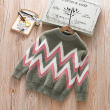 2019 New Striped Boys Sweater Autumn Winter Infant Boy Outerwear Cotton Sweater Kids Sweater Children Knitwear Sweater Brand